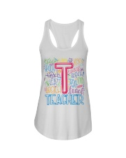 TEACHER TYPOGRAPHIC  Ladies Flowy Tank thumbnail