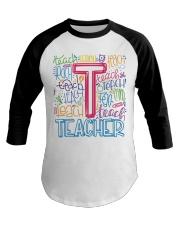 TEACHER TYPOGRAPHIC  Baseball Tee thumbnail