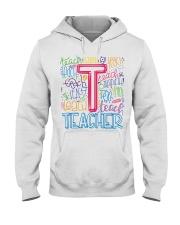TEACHER TYPOGRAPHIC  Hooded Sweatshirt thumbnail