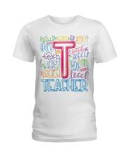 TEACHER TYPOGRAPHIC  Ladies T-Shirt thumbnail