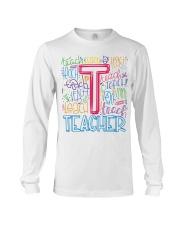 TEACHER TYPOGRAPHIC  Long Sleeve Tee thumbnail