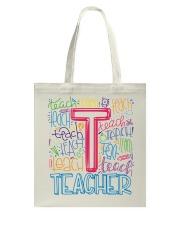 TEACHER TYPOGRAPHIC  Tote Bag thumbnail
