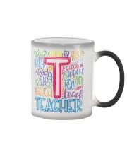 TEACHER TYPOGRAPHIC  Color Changing Mug thumbnail