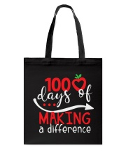 100 DAYS MAKING DIFFERENCE Tote Bag thumbnail