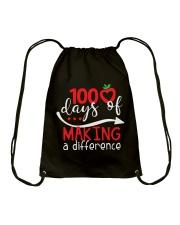 100 DAYS MAKING DIFFERENCE Drawstring Bag thumbnail