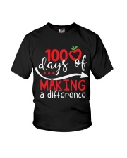 100 DAYS MAKING DIFFERENCE Youth T-Shirt thumbnail