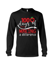 100 DAYS MAKING DIFFERENCE Long Sleeve Tee thumbnail