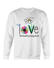 LOVE SCHOOL PSYCHOLOGIST LIFE Crewneck Sweatshirt tile