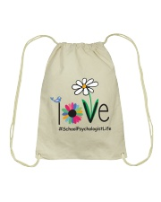 LOVE SCHOOL PSYCHOLOGIST LIFE Drawstring Bag tile
