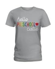 HELLO PRESCHOOL CUTIE Ladies T-Shirt front