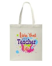 LIVING LIKE PRE-K TEACHER Tote Bag thumbnail