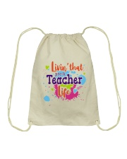 LIVING LIKE PRE-K TEACHER Drawstring Bag thumbnail