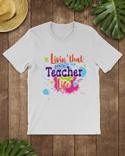 LIVING LIKE PRE-K TEACHER Classic T-Shirt lifestyle-mens-crewneck-front-18