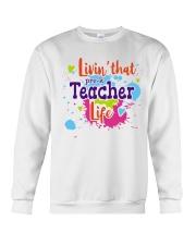LIVING LIKE PRE-K TEACHER Crewneck Sweatshirt thumbnail