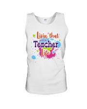LIVING LIKE PRE-K TEACHER Unisex Tank thumbnail