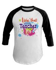 LIVING LIKE PRE-K TEACHER Baseball Tee thumbnail