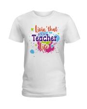 LIVING LIKE PRE-K TEACHER Ladies T-Shirt thumbnail