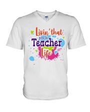 LIVING LIKE PRE-K TEACHER V-Neck T-Shirt thumbnail