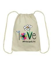 LOVE PRINCIPAL LIFE Drawstring Bag thumbnail