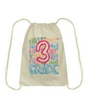 THIRD GRADE  TYPOGRAPHIC  Drawstring Bag thumbnail