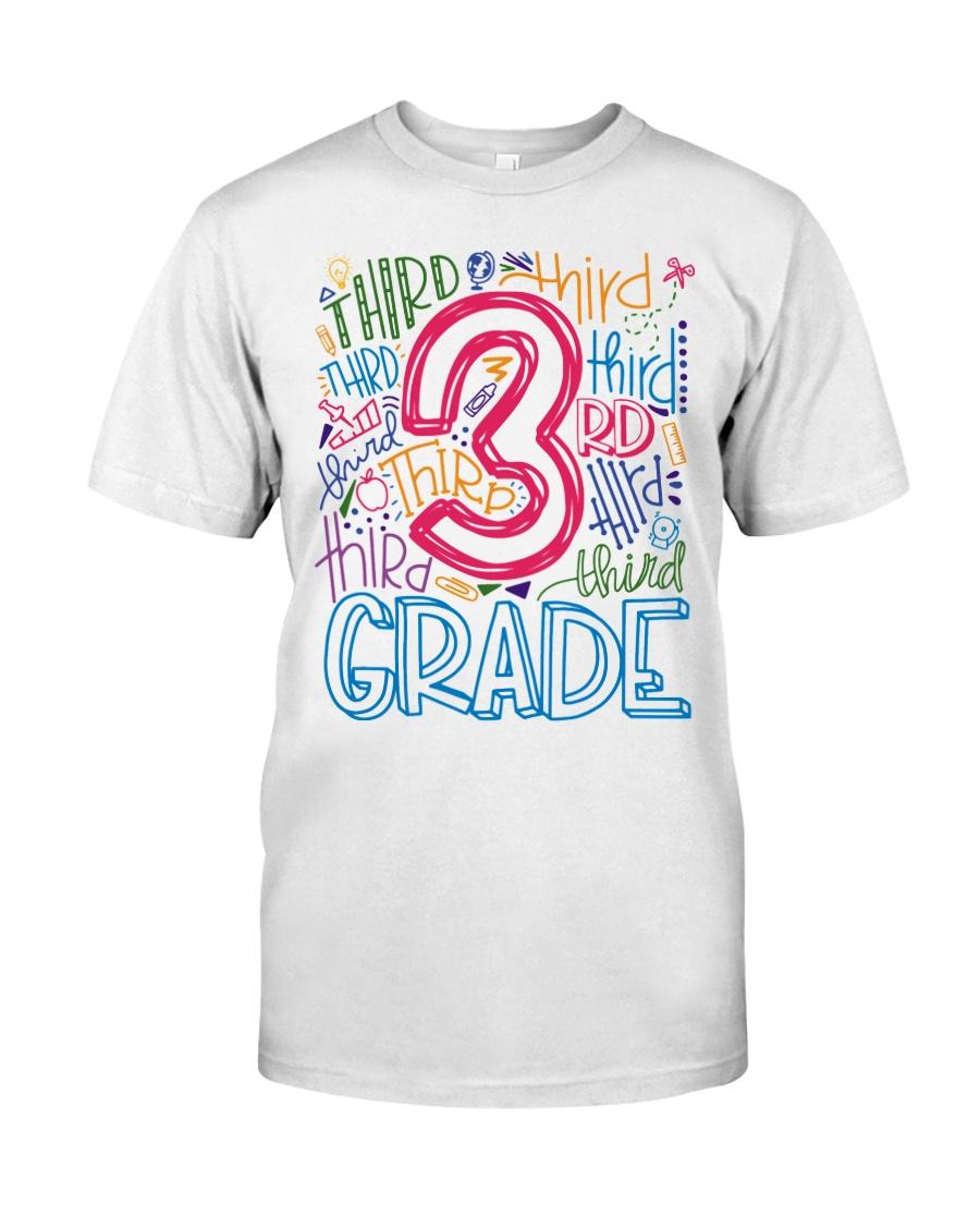 THIRD GRADE  TYPOGRAPHIC  Classic T-Shirt