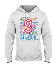 THIRD GRADE  TYPOGRAPHIC  Hooded Sweatshirt thumbnail