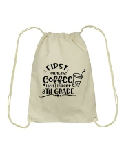8TH GRADE COFFEE Drawstring Bag thumbnail