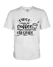 8TH GRADE COFFEE V-Neck T-Shirt thumbnail