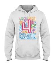 FOURTH GRADE TYPOGRAPHIC  Hooded Sweatshirt thumbnail