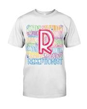 RECEPTIONIST TEACHER TYPOGRAPHIC  Classic T-Shirt front