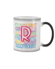 RECEPTIONIST TEACHER TYPOGRAPHIC  Color Changing Mug thumbnail