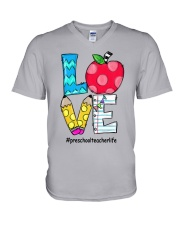 PRESCHOOL TEACHER V-Neck T-Shirt thumbnail