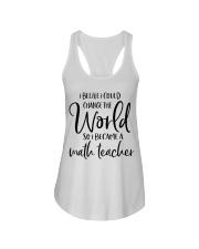 MATH TEACHER CHANGE THE WORLD Ladies Flowy Tank thumbnail