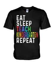 TEACH KINDER V-Neck T-Shirt thumbnail