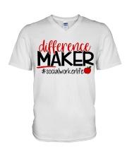 SOCIAL WORKER LIFE V-Neck T-Shirt thumbnail