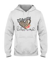 TEACHING IS HEART WORK Hooded Sweatshirt thumbnail