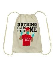 RED - NOTHING CAN STOP ME Drawstring Bag thumbnail