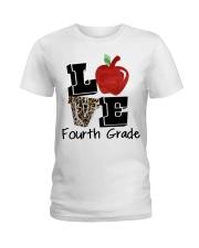 LOVE 4TH GRADE Ladies T-Shirt thumbnail