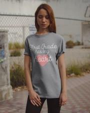 FIRST GRADE HAS MY HEART - TEACHER Classic T-Shirt apparel-classic-tshirt-lifestyle-18