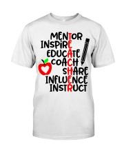 TEACHER FACTS Classic T-Shirt front