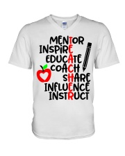 TEACHER FACTS V-Neck T-Shirt thumbnail