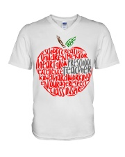 PRESCHOOL APPLE V-Neck T-Shirt thumbnail