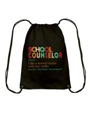 SCHOOL COUNSELOR DEFINITION Drawstring Bag thumbnail