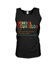 SCHOOL COUNSELOR DEFINITION Unisex Tank thumbnail