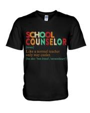 SCHOOL COUNSELOR DEFINITION V-Neck T-Shirt thumbnail