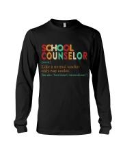 SCHOOL COUNSELOR DEFINITION Long Sleeve Tee thumbnail