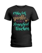HOMESCHOOL TEACHER SPARKLE Ladies T-Shirt thumbnail