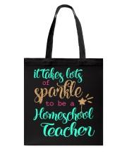 HOMESCHOOL TEACHER SPARKLE Tote Bag thumbnail