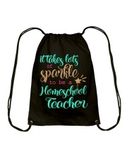 HOMESCHOOL TEACHER SPARKLE Drawstring Bag thumbnail