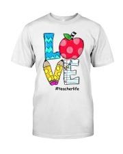 LOVE TEACHER Classic T-Shirt front